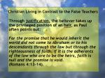 christian living in contrast to the false teachers69