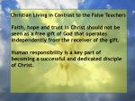 christian living in contrast to the false teachers87