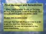 final messages and benediction1