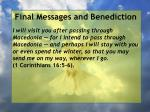 final messages and benediction16