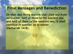 final messages and benediction18