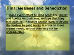 final messages and benediction19