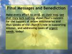 final messages and benediction20