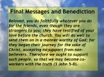 final messages and benediction21