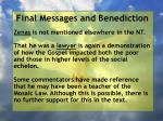 final messages and benediction22