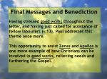 final messages and benediction26