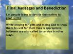final messages and benediction27
