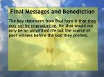 final messages and benediction28