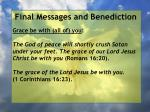 final messages and benediction31