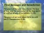 final messages and benediction33