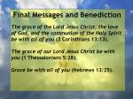 final messages and benediction34