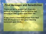 final messages and benediction37