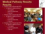 medical pathway results results