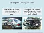 texting and driving don t mix1