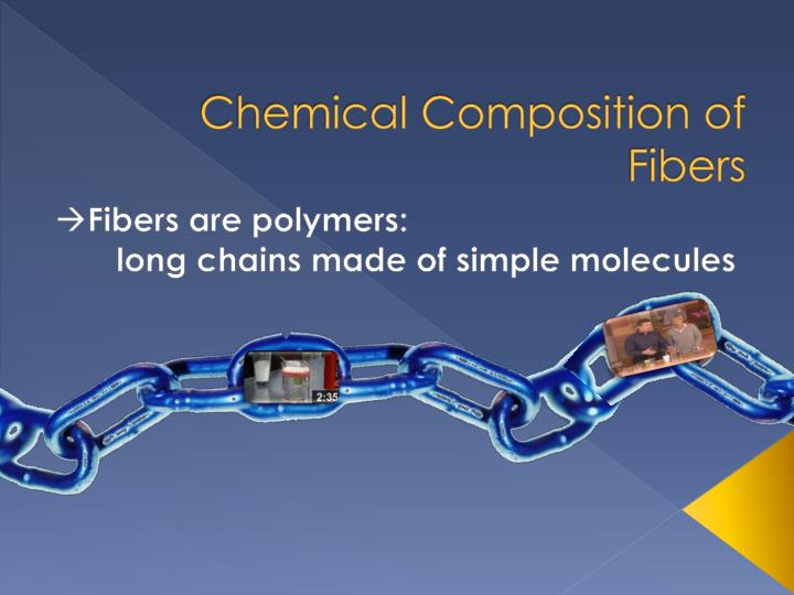 Chemical composition of fibers1