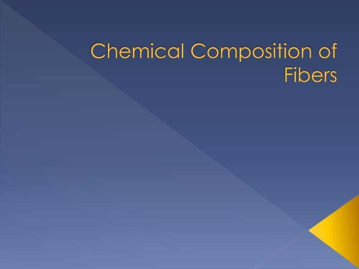 chemical composition of fibers n.