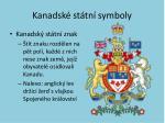 kanadsk st tn symboly