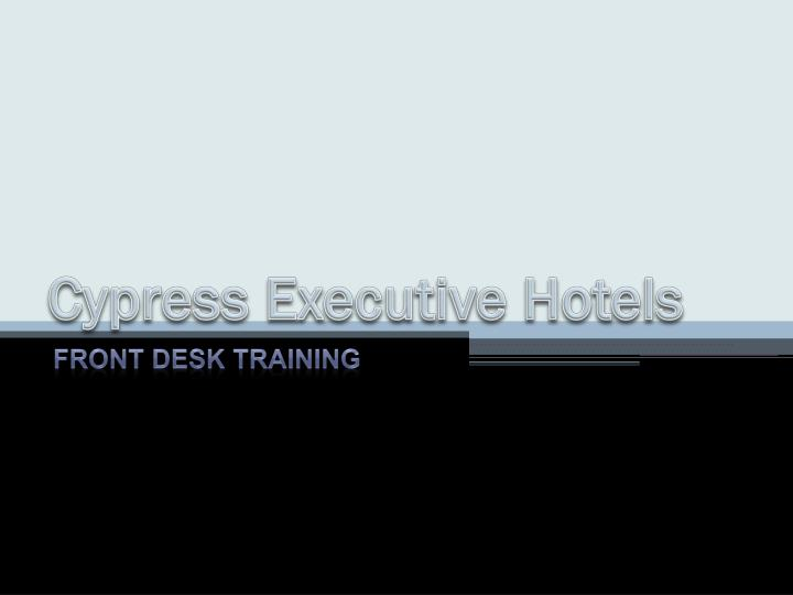 cypress executive hotels n.