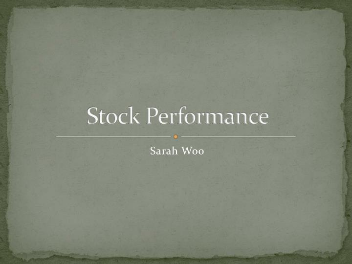 stock performance n.