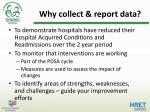 why collect report data