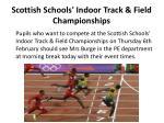 scottish schools indoor track field championships
