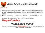 vision values @ lasswade