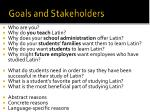 goals and stakeholders