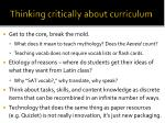 thinking critically about curriculum