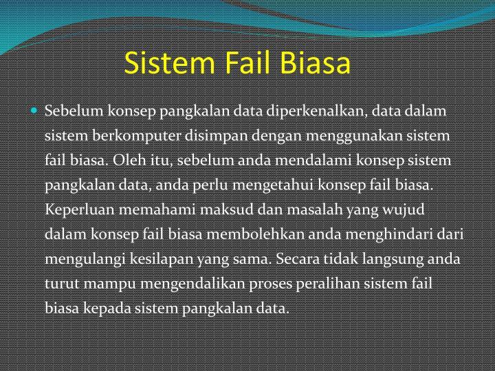 Sistem fail biasa