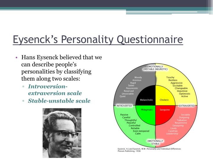 Eysenck s personality questionnaire