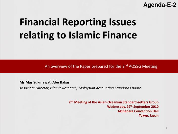 an overview of the paper prepared for the 2 nd aossg meeting n.