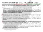 the transfer of the legal title of the asset