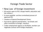 foreign trade sector