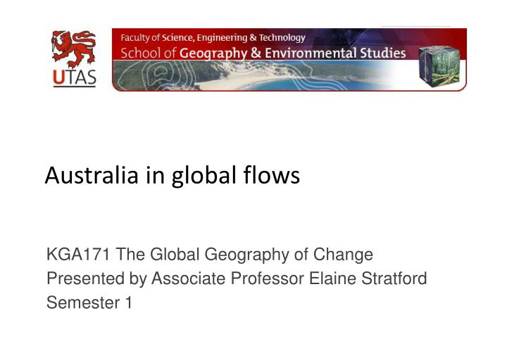 australia in global flows n.