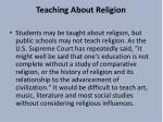 teaching about religion