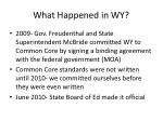 what happened in wy