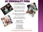 my personality poem