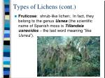 types of lichens cont1