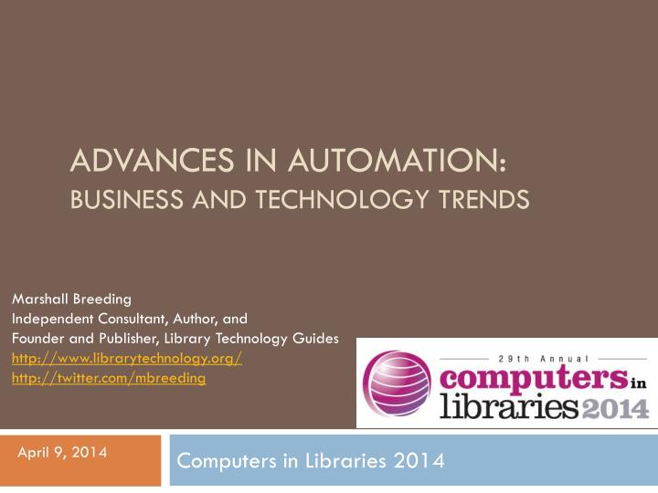 advances in automation business and technology trends n.