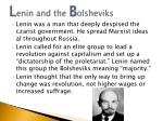 l enin and the b olsheviks
