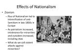 effects of nationalism