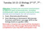 tuesday 10 15 13 biology 3 rd 5 th 7 th 8th