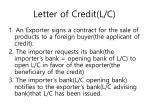 letter of credit l c1
