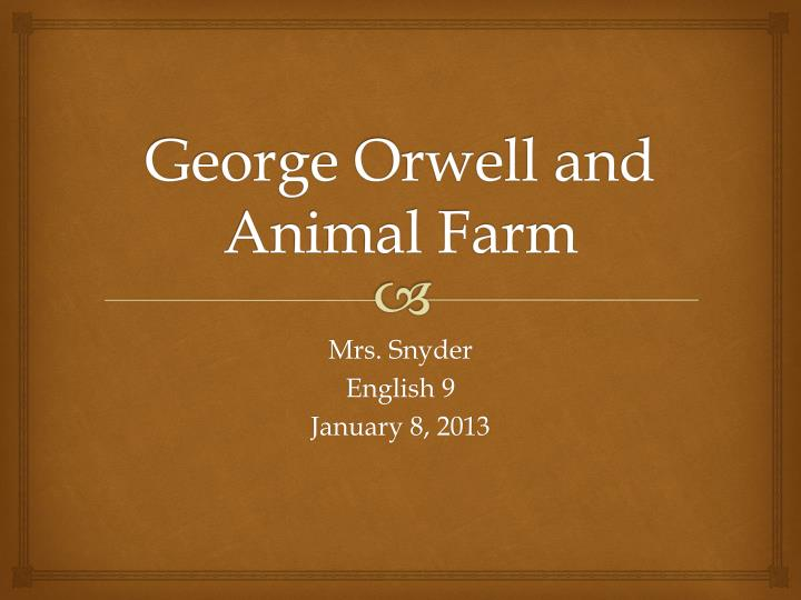 a presentation of george orwell and References to george orwell's dystopian political novel nineteen eighty-four themes, concepts and plot elements are also frequent in other works, particularly popular music and video entertainment.