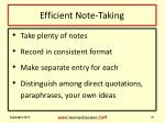 efficient note taking