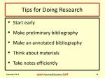 tips for doing research1