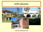 ucr libraries