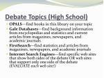 debate topics high school