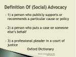definition of social advocacy
