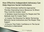 how effective independent advocacy can help improve social institutions1